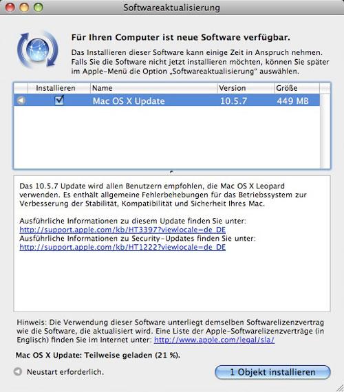 Update OS X 10.5.7