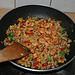 Gemüse-Wildreis mit Chili-Knoblauch-Garnelen