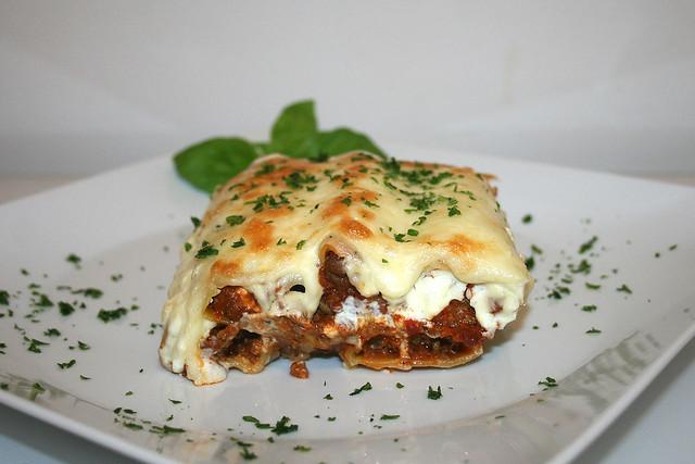 Cannelloni mit Hack-Feta-Füllung – das Rezept