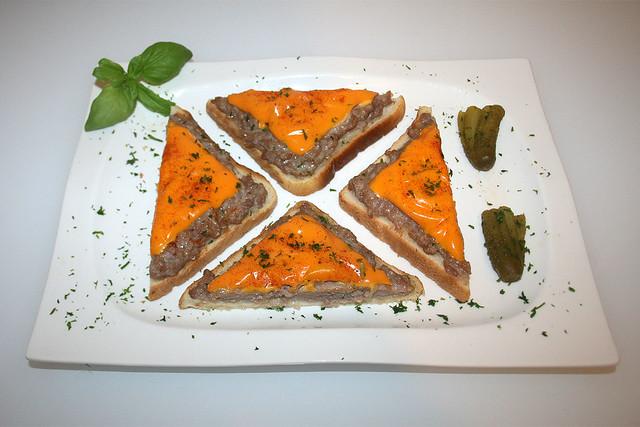 Bratwurst-Toast – das Rezept