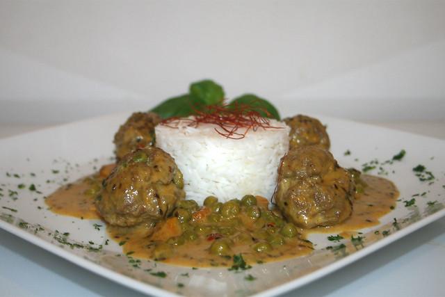 Indische Curry-Hackbällchen – das Rezept