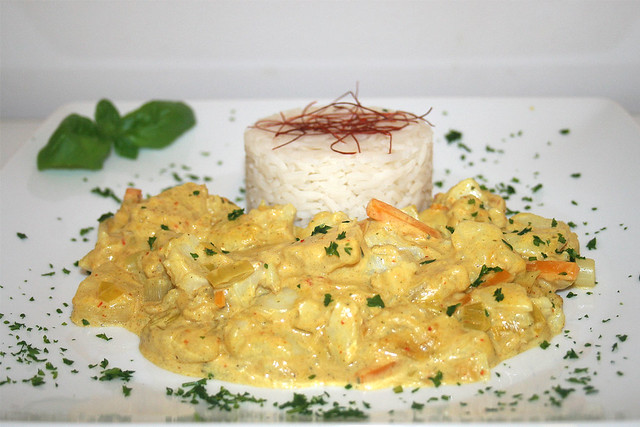 Fisch-Ananas-Curry in Kokosnussmilch – das Rezept