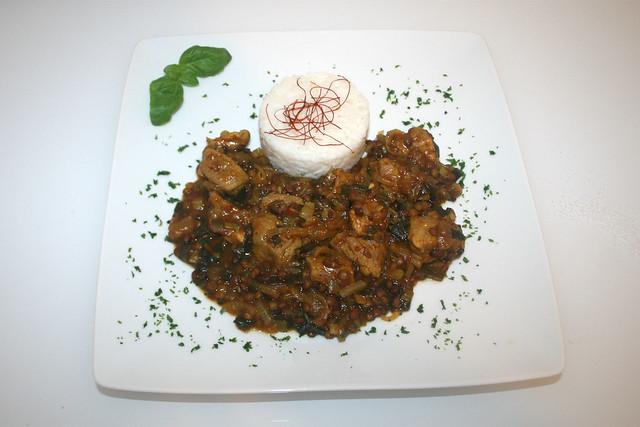 Schweinefleisch-Linsen-Curry mit Mango-Chutney – das Rezept