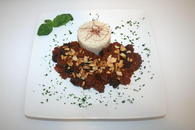 Geschmortes Lamm mit Pflaumen & Aprikosen (Khoresht e sardalu wa alu) – das Rezept