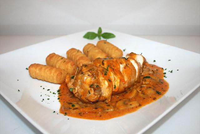 Poulet au Vinaigre – Essig-Huhn in Estragonsauce – das Rezept