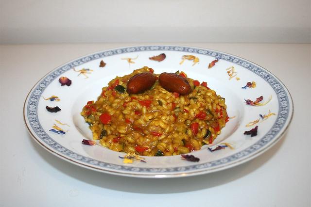 Dattel-Safran-Risotto – das Rezept