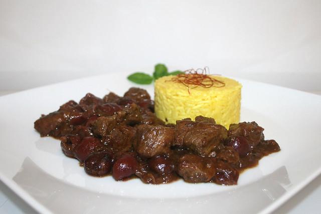 Khoresh-e Albaloo – Lamm in persischer Sauerkirschsauce – das Rezept