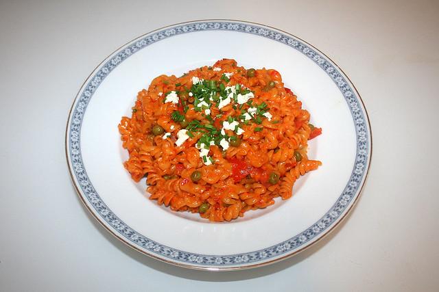 Ajvar-Speck-Nudeln – das Rezept