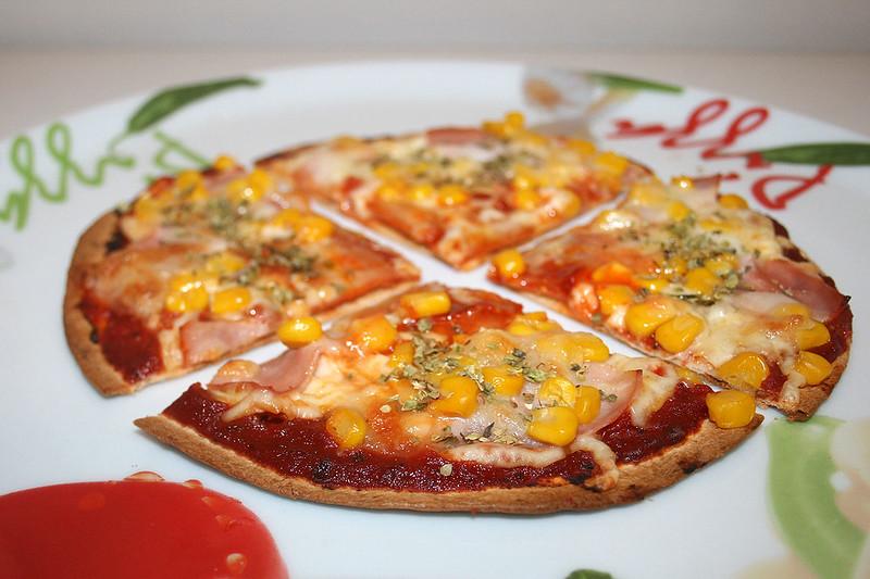 Tortilla-Pizza – das Rezept