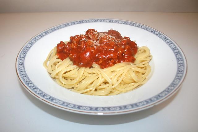 Spaghetti mit Hackfleisch-Tomatensauce [26.05.2016]