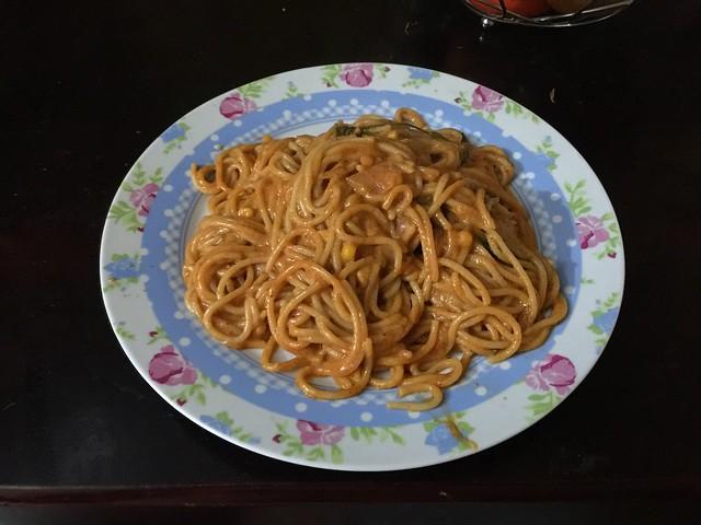 Dominikanische Spaghetti mit Schweinefleisch [31.05.2016]