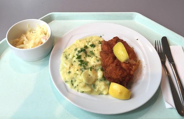 Wiener Backhendl mit Zitronenecke & Kartoffelsalat [14.07.2016]