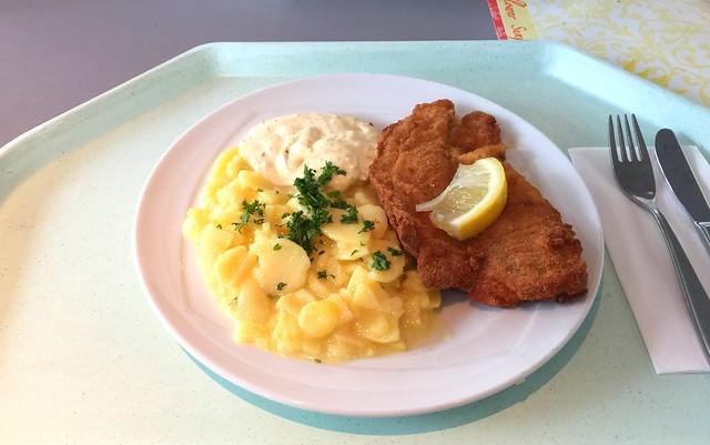 Gebackenes Schollenfilet mit Remoulade & Kartoffelsalat [29.07.2016]