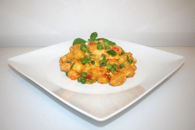 Curry-Gnocchi mit Hähnchen – das Rezept