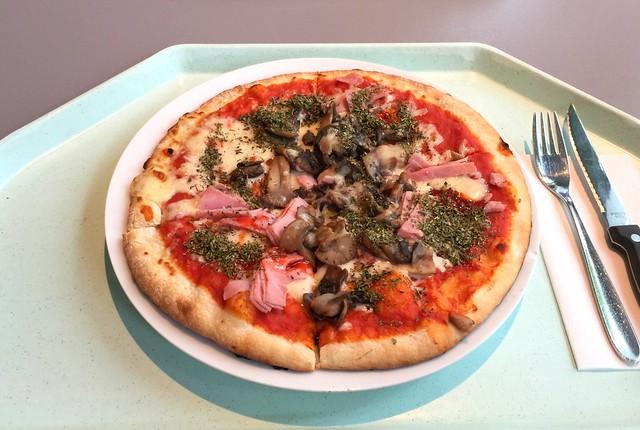 Pizza mit Schinken & Pilzen [12.08.2016]