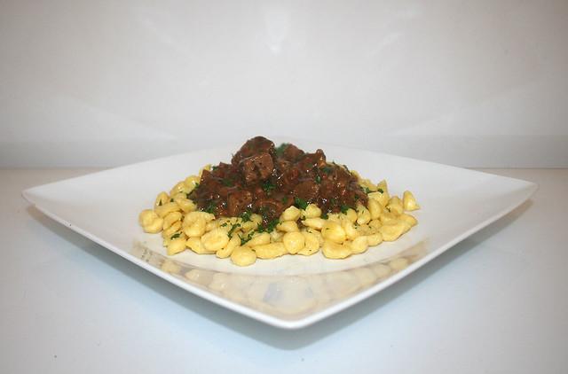 Schwäbisches Dunkelbierfleisch süß-sauer – das Rezept