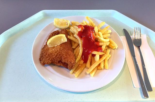 Cordon bleu mit Zitronenecke & Pommes Frites [25.08.2016]