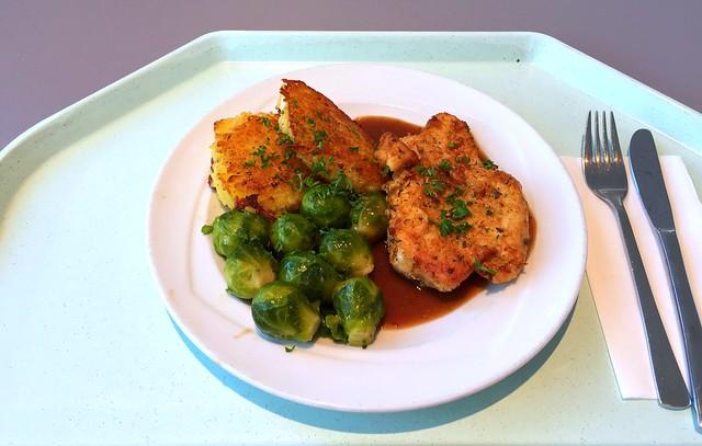 Steak von der Pute mit Honig-Pfeffersauce & Kartoffelplätzchen [26.08.2016]