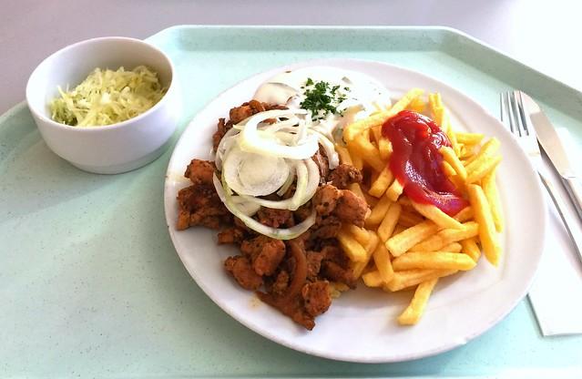 Gyros mit frischen Zwiebeln, Tzatziki & Pommes Frites [29.09.2016]