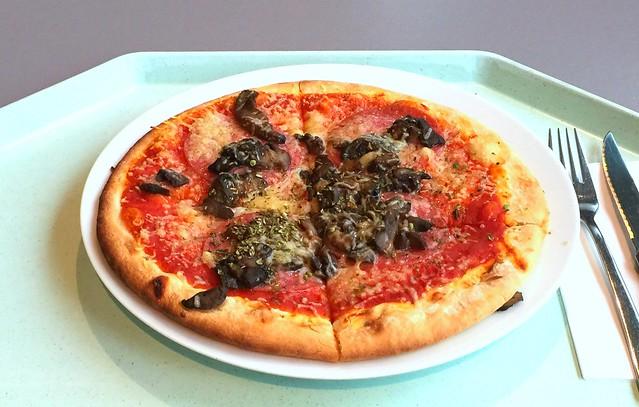 Pizza mit Salami und Champignons [11.11.2016]