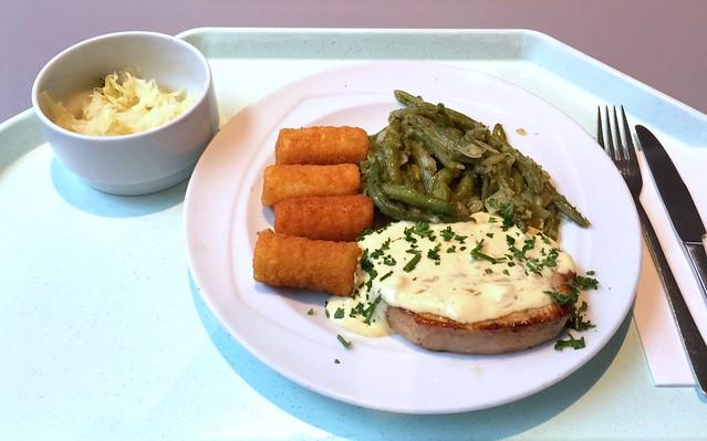 Schweinesteak mit Sauce Bernaise, grünen Bohnen & Kroketten [16.11.2016]