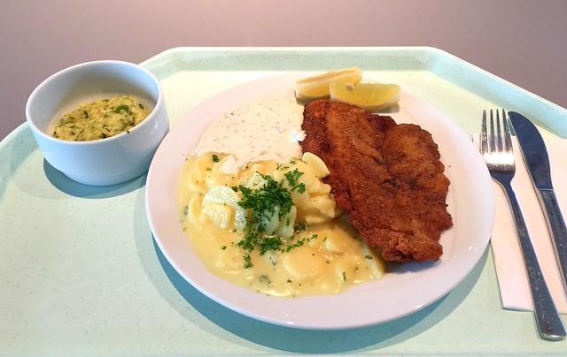 Gebackenes Schollenfilet mit Kartoffelsalat & Remoulade [18.11.2016]