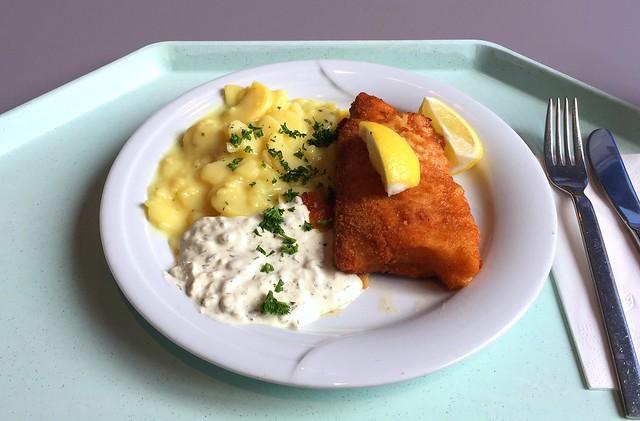 Gebackener Seelachs mit Remoulade & Kartoffelsalat [02.12.2016]