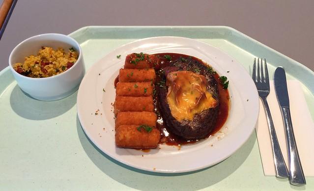 Rinderhacksteak mit BBQ-Sauce & Kroketten [06.12.2016]