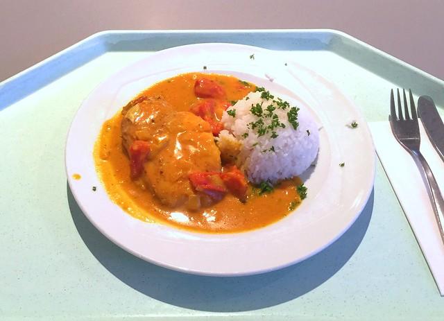 Hähnchenbrust in fruchtiger Currysauce mit Reis [19.12.2016]