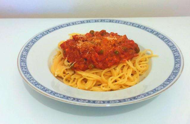 Spaghetti mit Hackfleisch-Tomaten-Sahne-Sauce [21.01.2017]