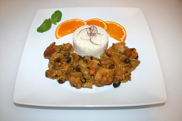 Indisches Hähnchen-Früchtecurry aus dem Ofen – das Rezept
