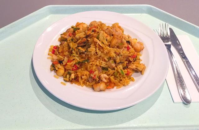 Spanische Paella mit Meeresfrüchten, Fisch & Huhn [22.02.2017]