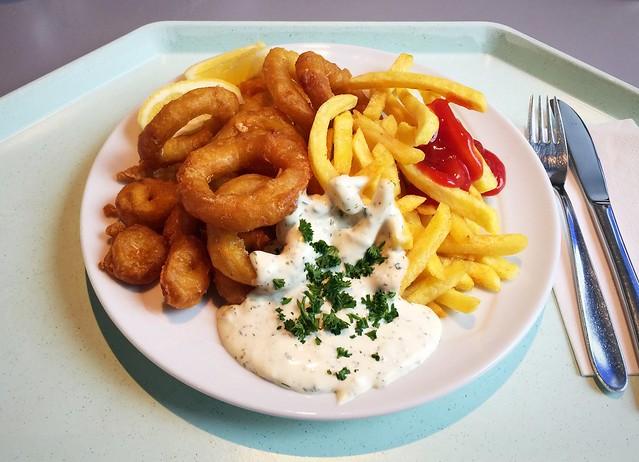 Gebackene Calamari mit Remoulade & Pommes Frites [24.03.2017]