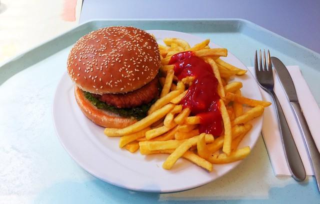 Chicken Burger mit Pommes Frites [20.06.2017]