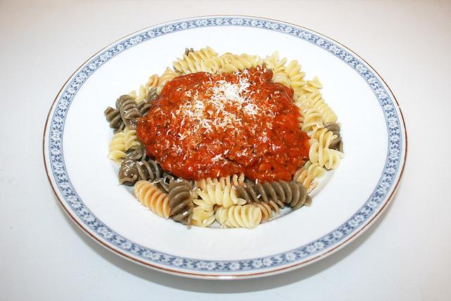 Spirelli mit Hackfleisch-Tomatensauce