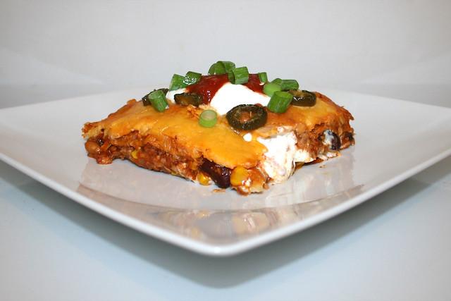 Pikante Nacho-Lasagne mit Ricottacreme & Jalapenos – das Rezept