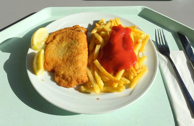 Cordon bleu vom Schwein mit Pommes Frites [02.11.2017]