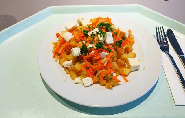 Kartoffelgeröstel mit Lauch & Hirtenkäse [16.11.2017]