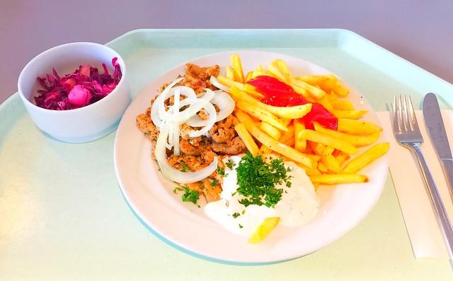 Gyros mit Tzatziki, frischen Zwiebeln & Pommes Frites [15.12.2017]