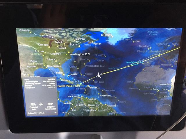 Mit Condor nach Puerto Plata [27. & 28.12.2017]