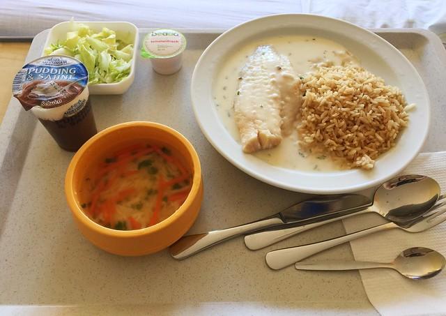 Rotbarschfilet mit Kräuter-Käse-Sauce & Vollkornreis – Klinikum Bogenhausen Day 2 [24.01.2018]