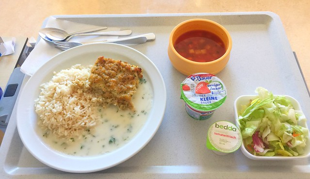 Minestrone + Fisch Filet Bordelaise mit Kräutersauce & Reis – Klinikum Bogenhausen – Day 7 [29.01.2018]