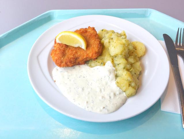 Gebackener Seelachs mit Remoulade & hausgemachten Kartoffelsalat [16.03.2018]