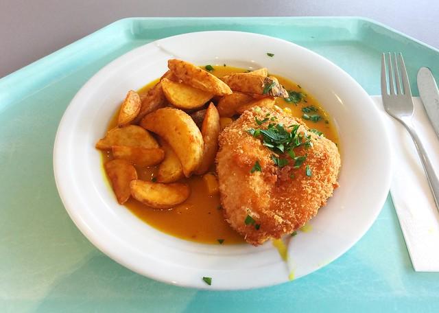 Hähnchenbrust in der Knusperpanade mit fruchtiger Currysauce [22.05.2018]