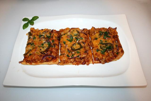 Chicken Jalapeño BBQ Pizza – das Rezept