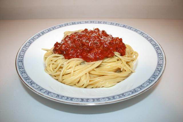 Spaghetti mit Hackfleisch-Tomatensauce [25.07.2018]