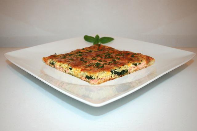 (Räucher)Lachs-Spinat-Kuchen – das Kurzrezept