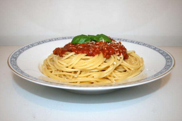 Spaghetti mit Hackfleisch-Tomatensauce – Re-Re-Reloaded [03.10.2018]