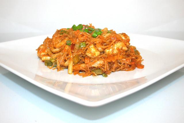 Tandoori Glasnudel-Curry mit Hähnchen – das Rezept