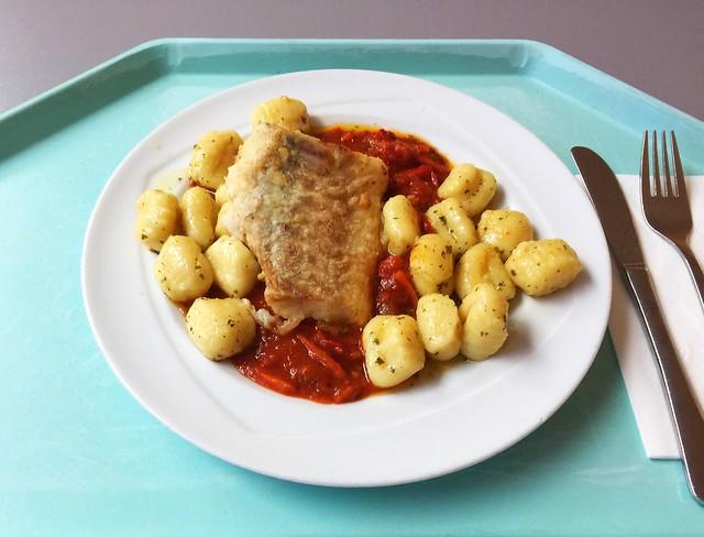 Kabeljaufilet auf Tomaten-Paprika-Ragout mit Kräutergnocchi [14.12.2018]